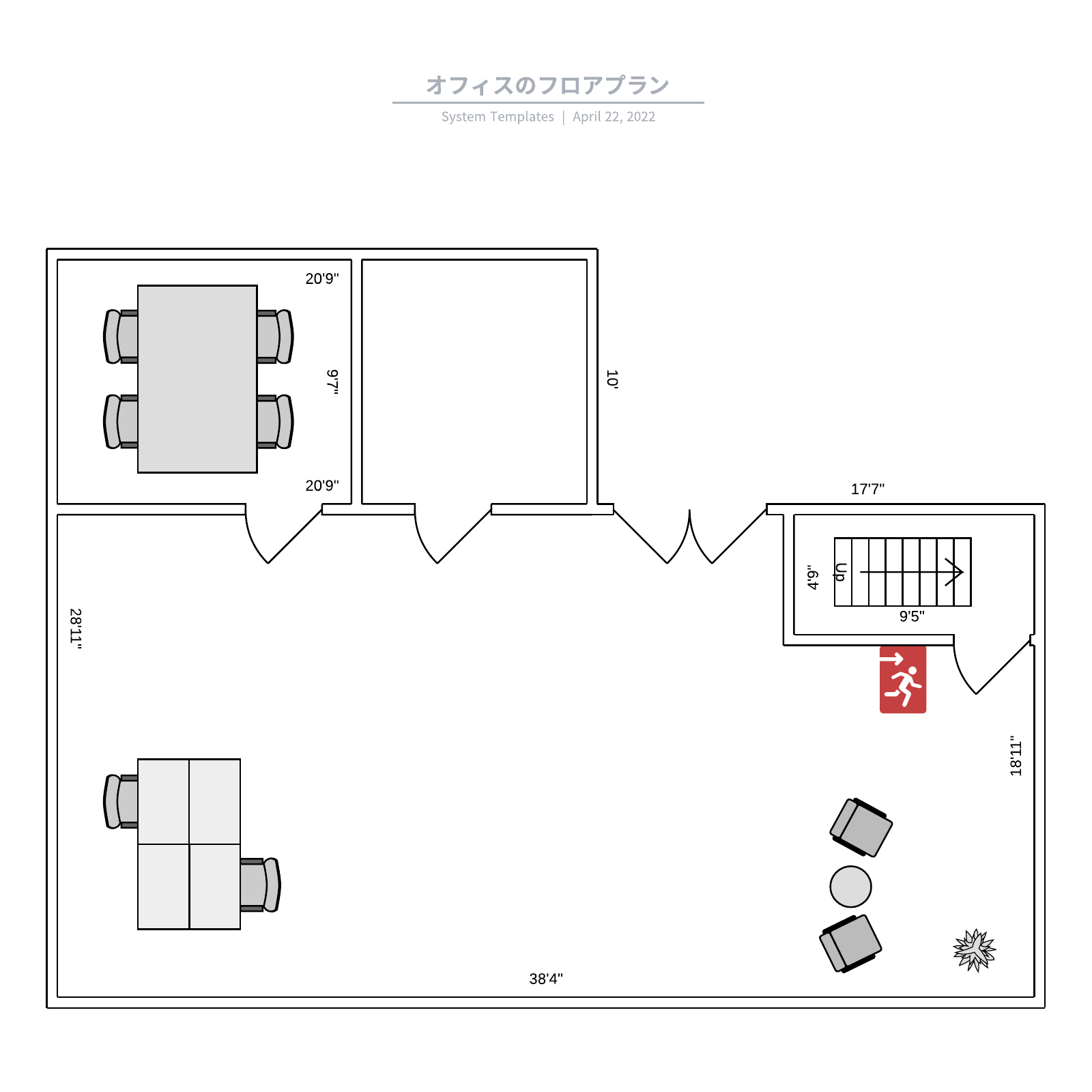 オフィスの間取り図見本