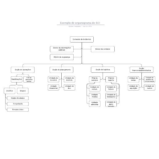 Modelo de organograma funcional