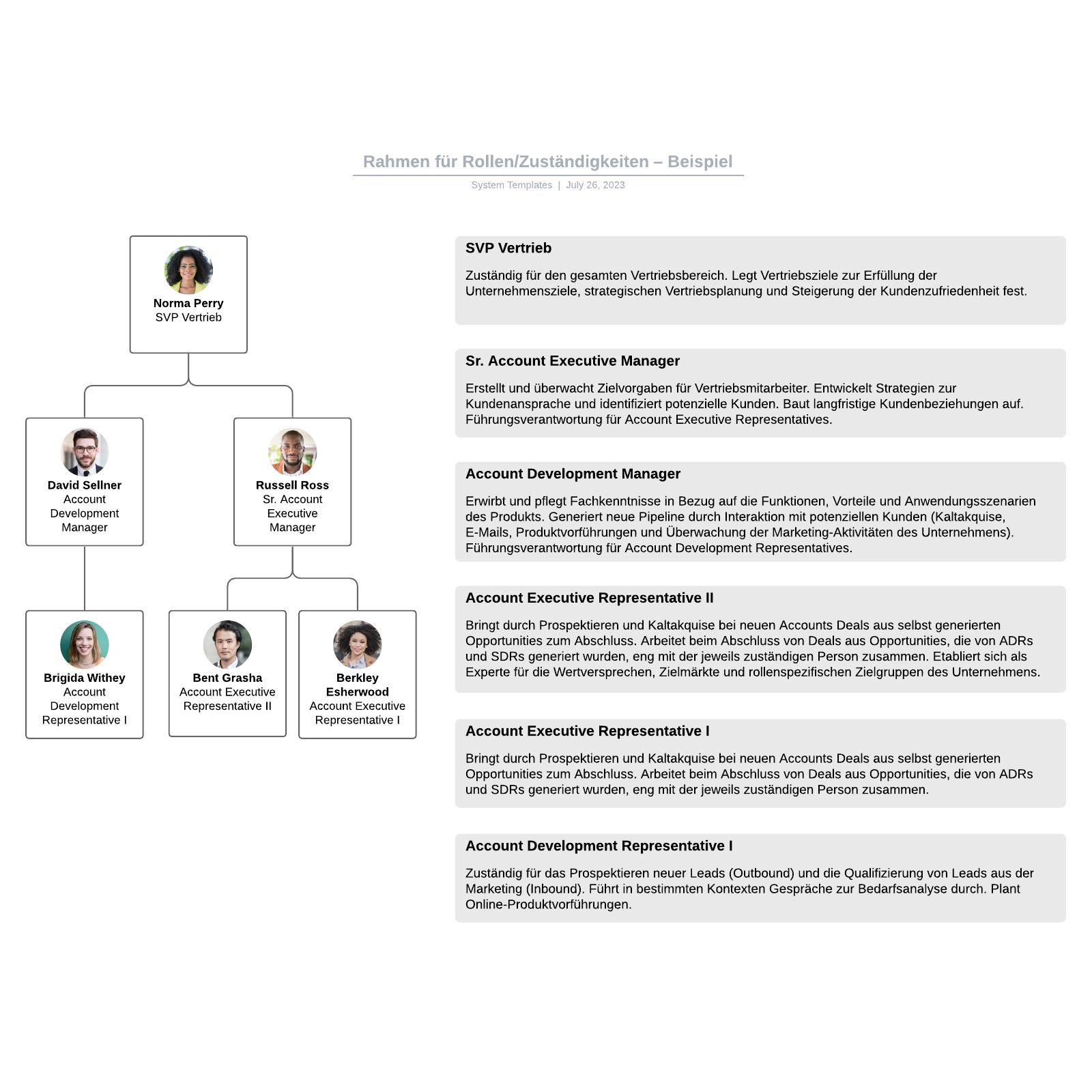 Rahmen für Rollen/Zuständigkeiten – Beispiel