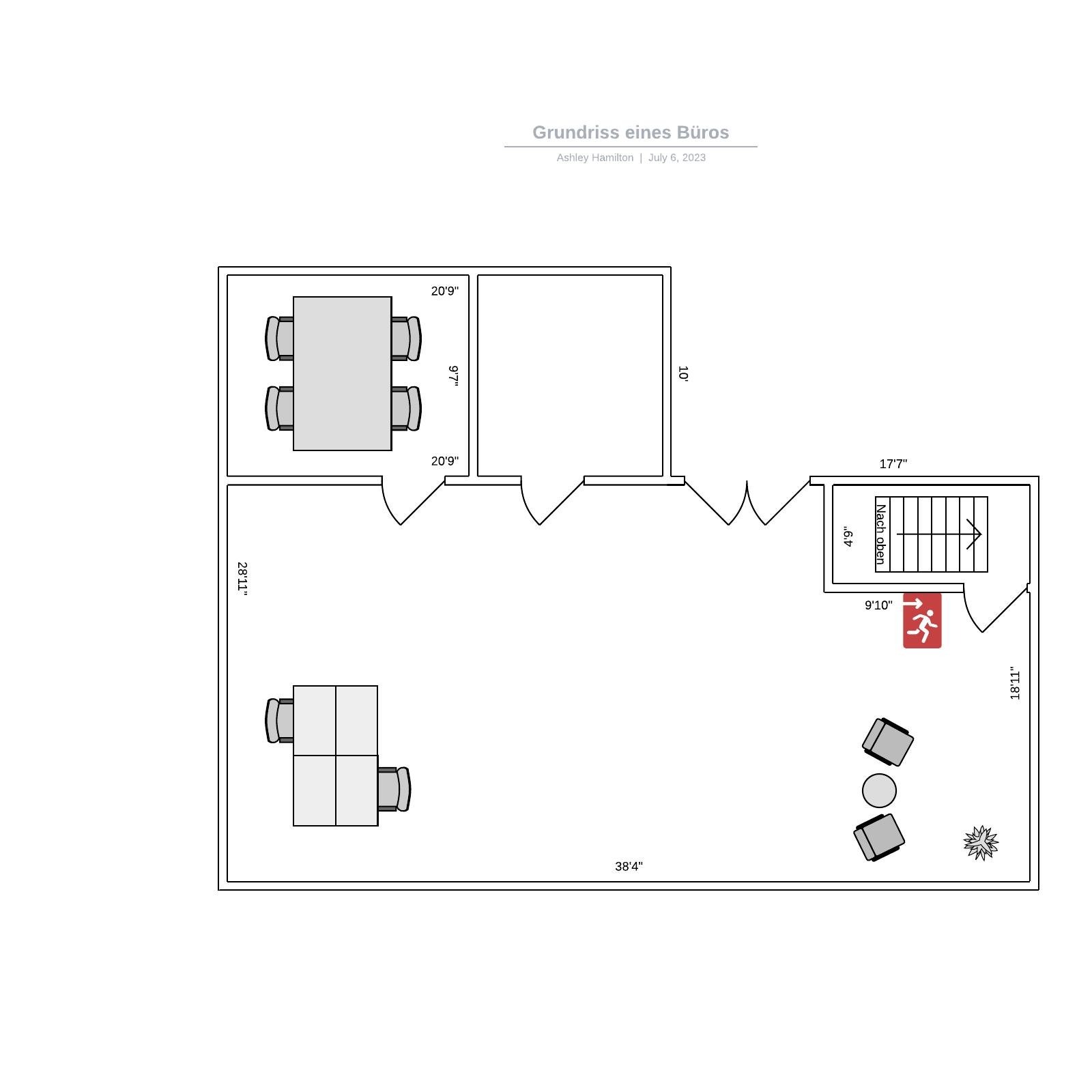 Büro Grundriss Vorlage