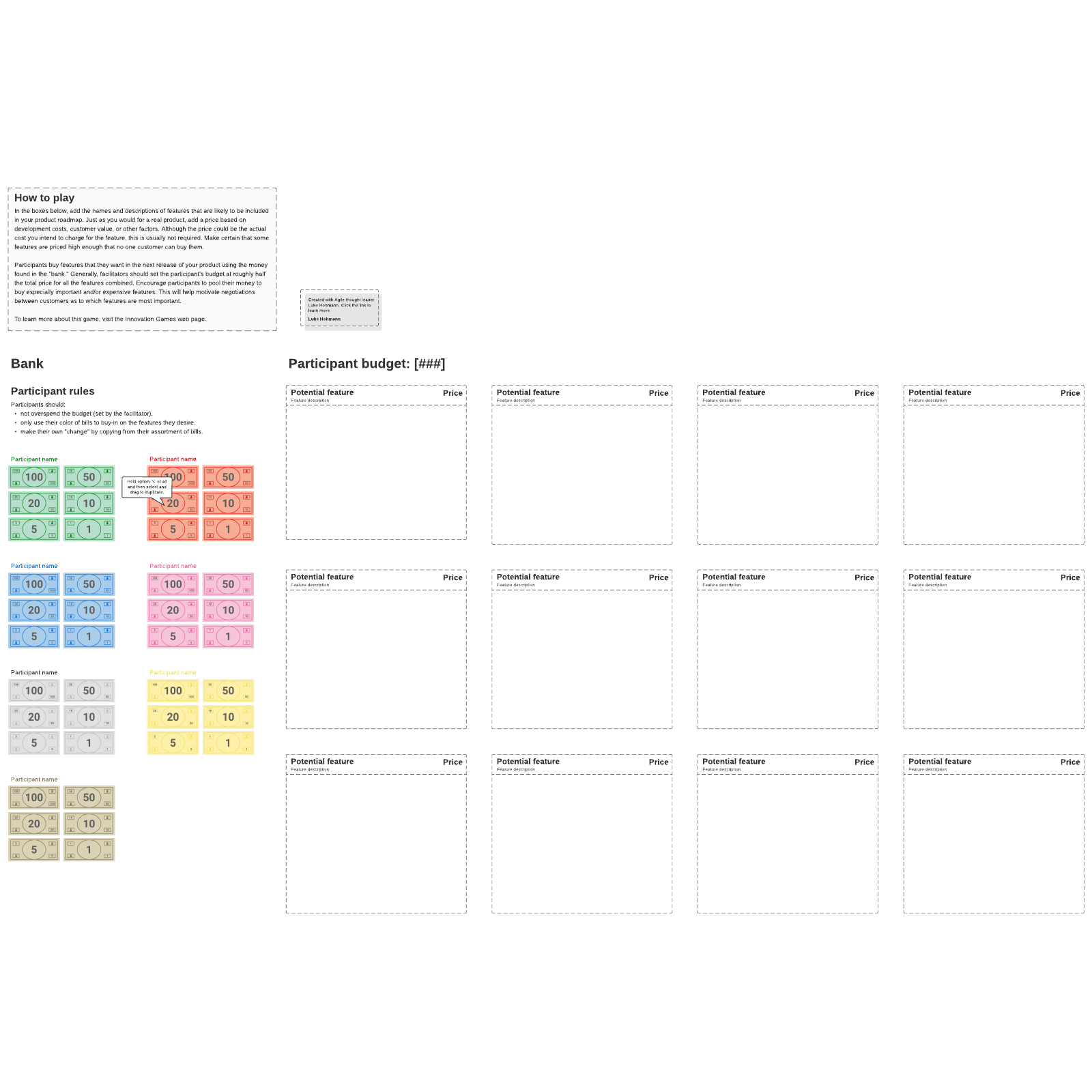 Buy-a-Feature Template