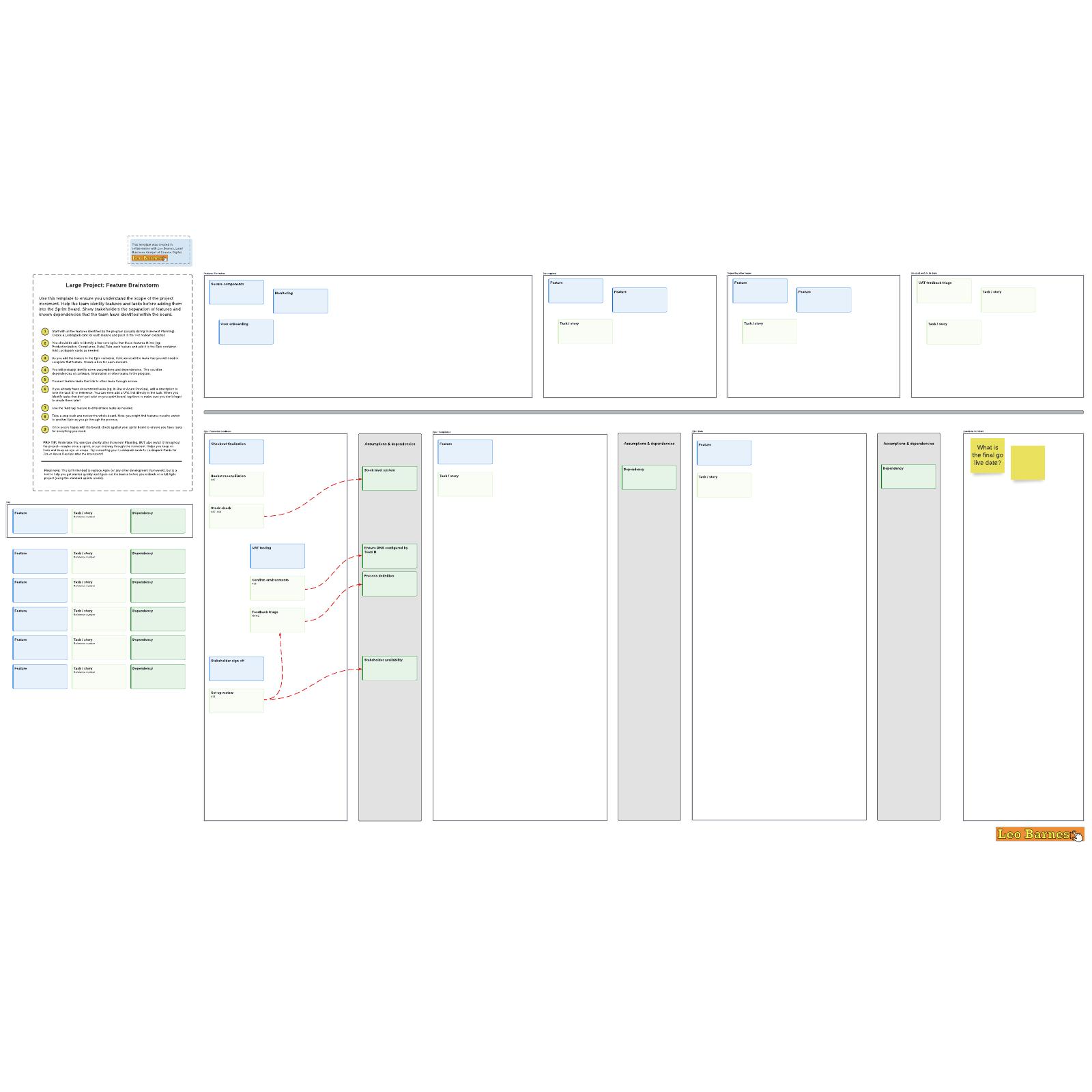 Large project feature brainstorm