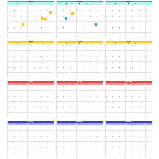 Annual calendar