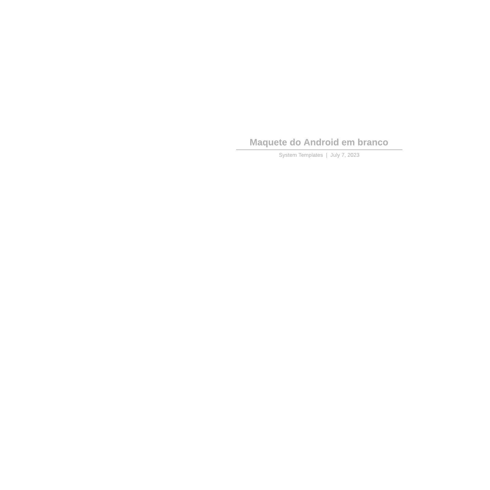 Mockup de smartphone Android em branco