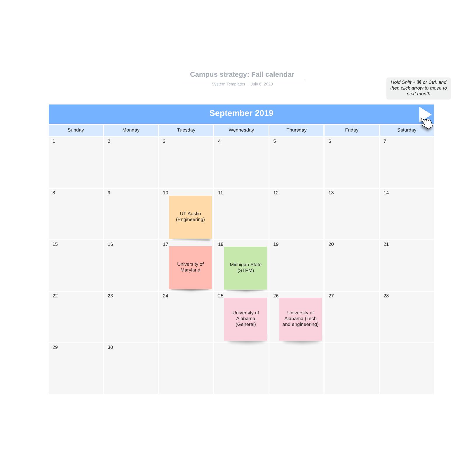 Campus strategy: Fall calendar