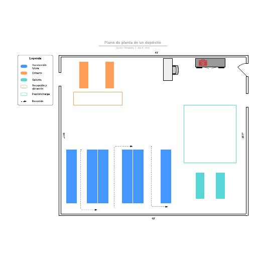 Plano de planta de un depósito