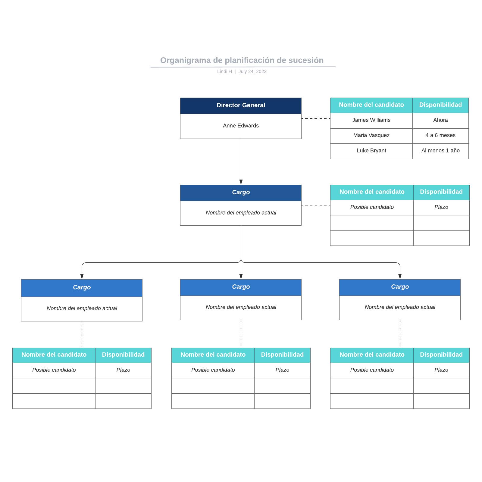 Organigrama de planificación de sucesión