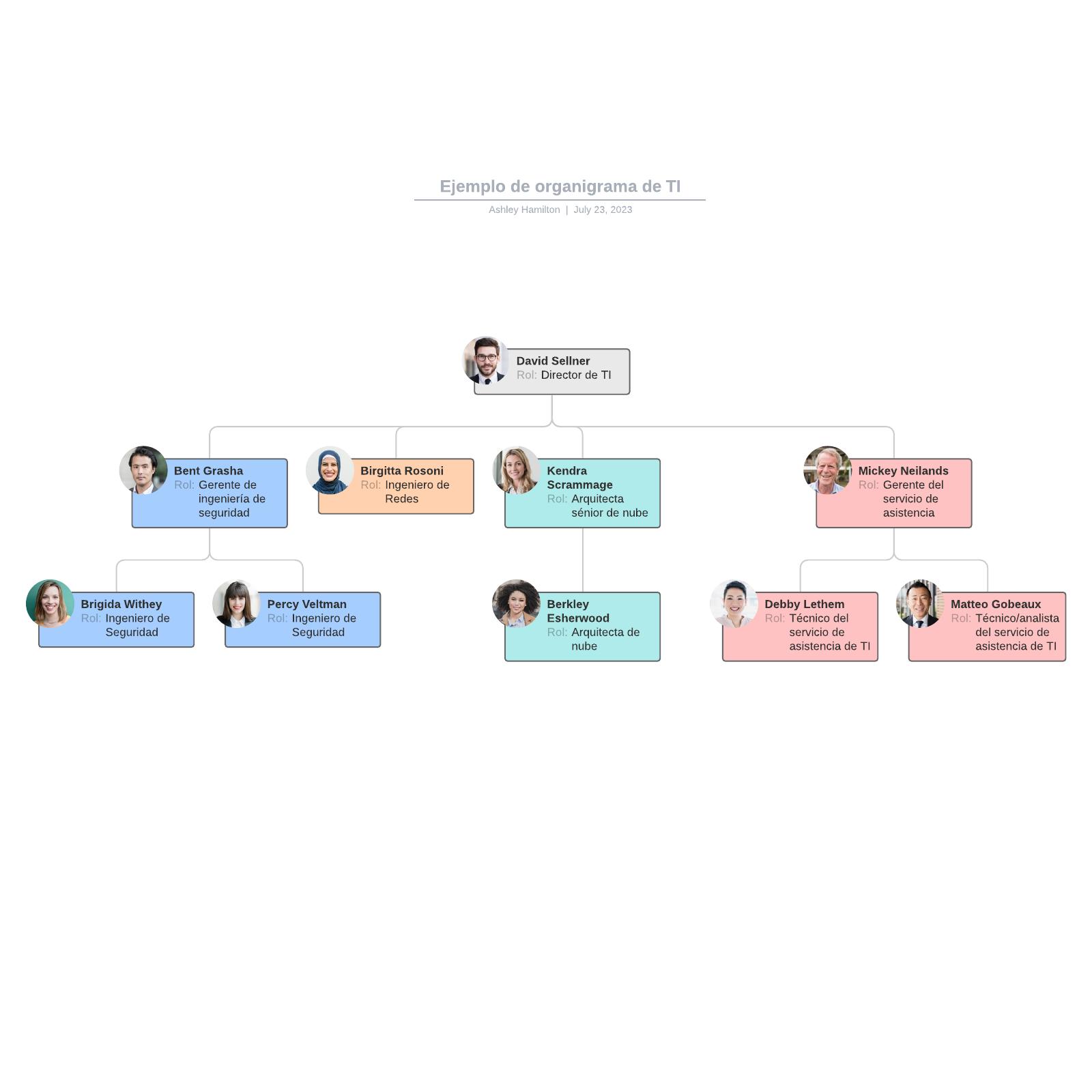 Ejemplo de organigrama de TI