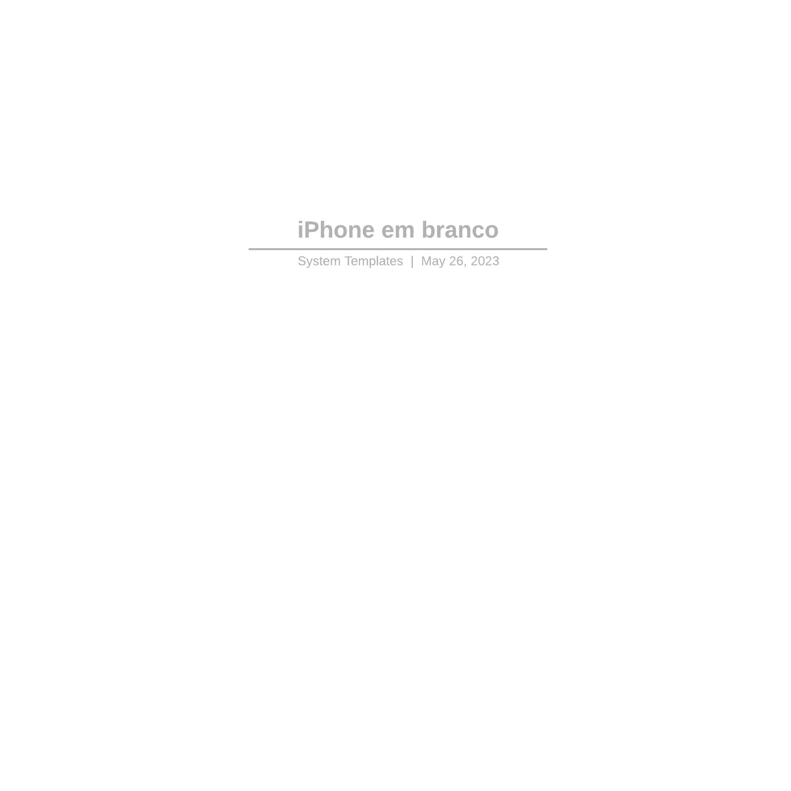 iPhone em branco