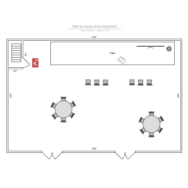 Plan de niveau d'un événement