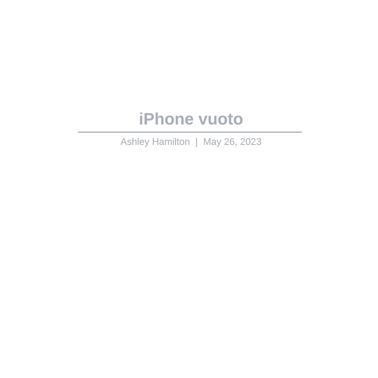 iPhone vuoto