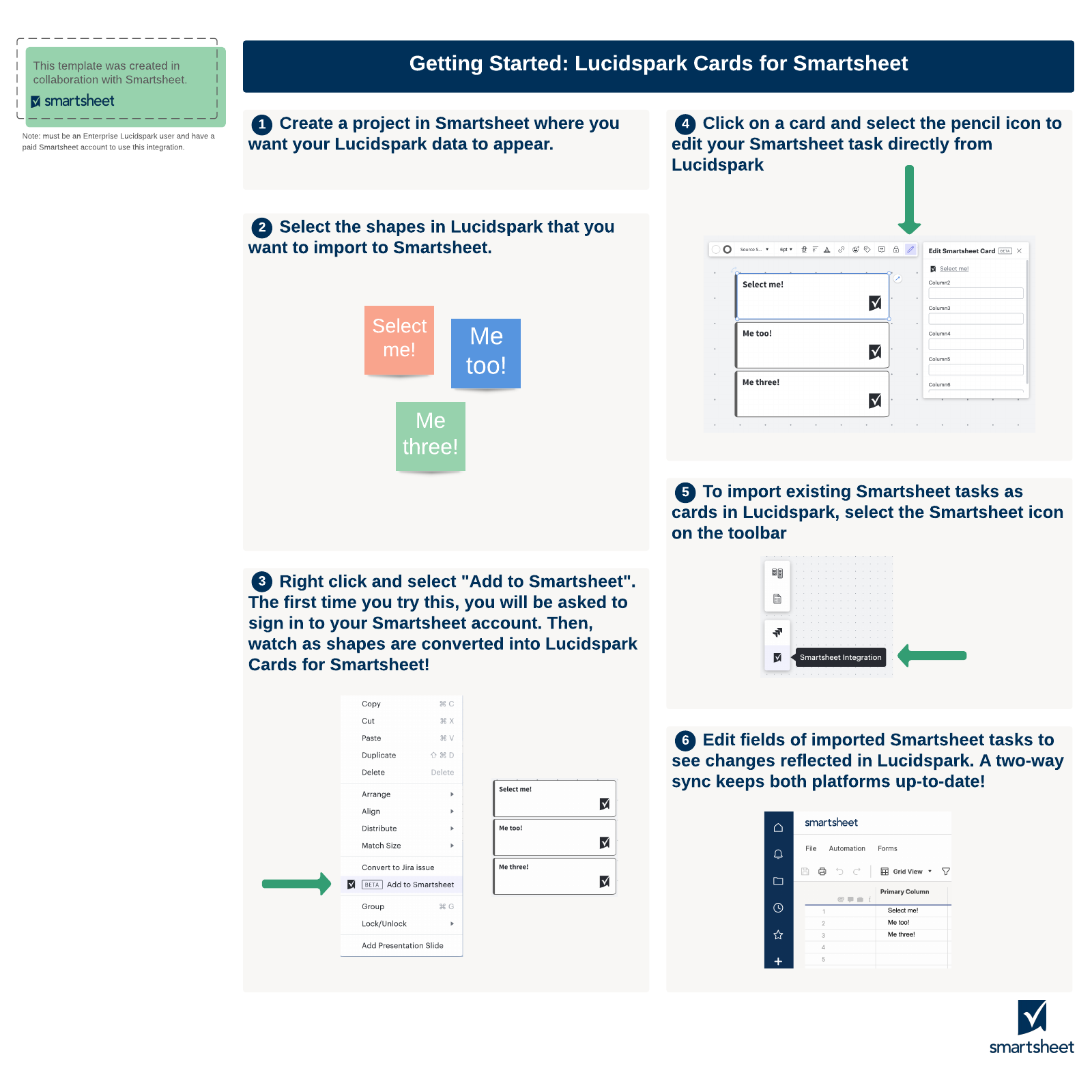 Getting started with Smartsheet integration