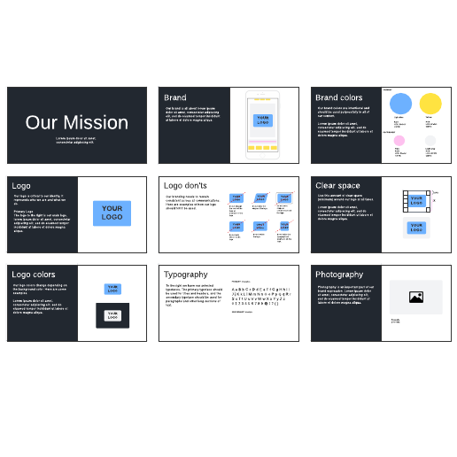 Brand guidelines example template