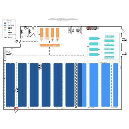 Пример плана складского помещения