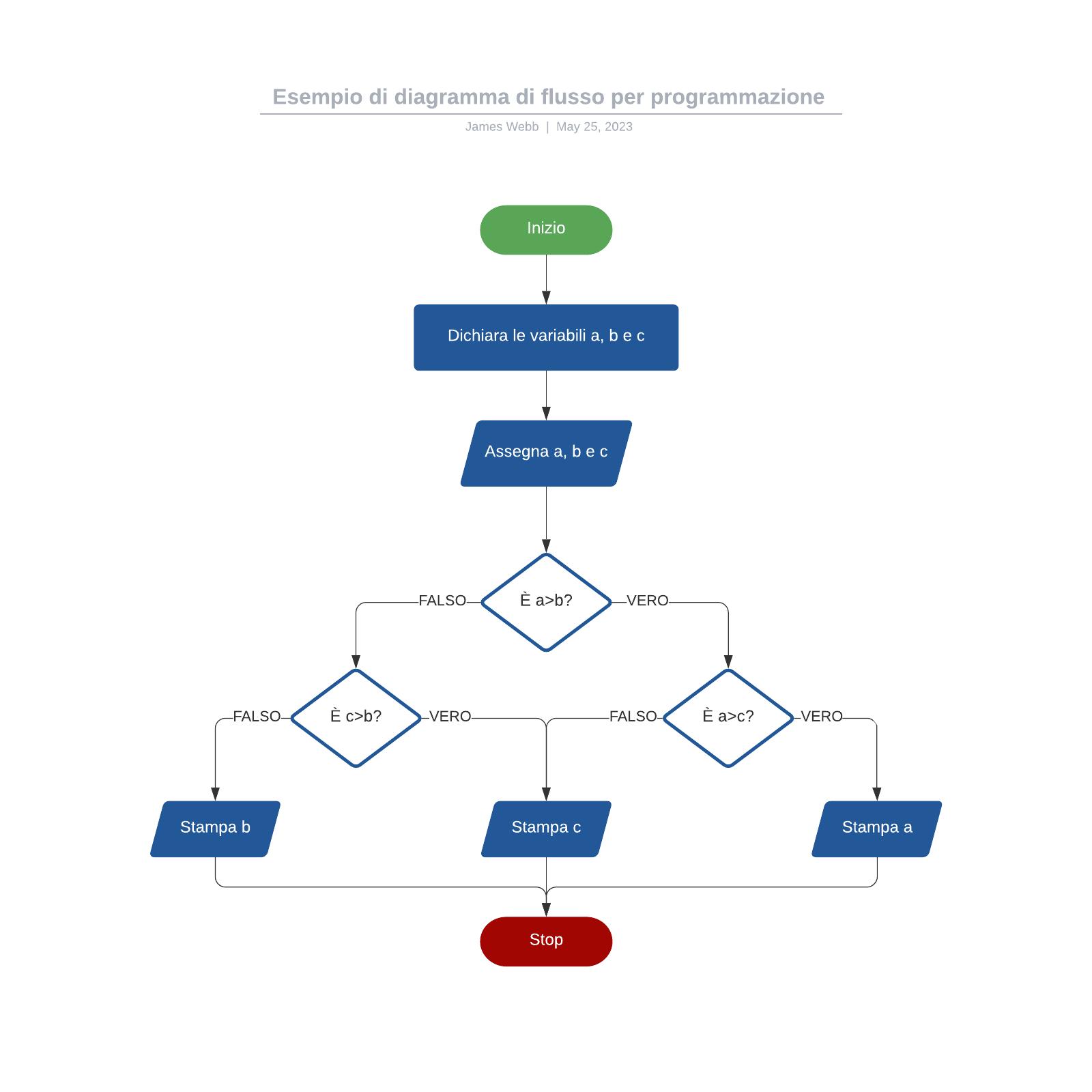 Esempio di diagramma di flusso per programmazione