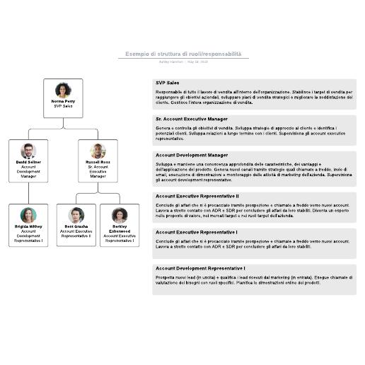 Esempio di struttura di ruoli/responsabilità
