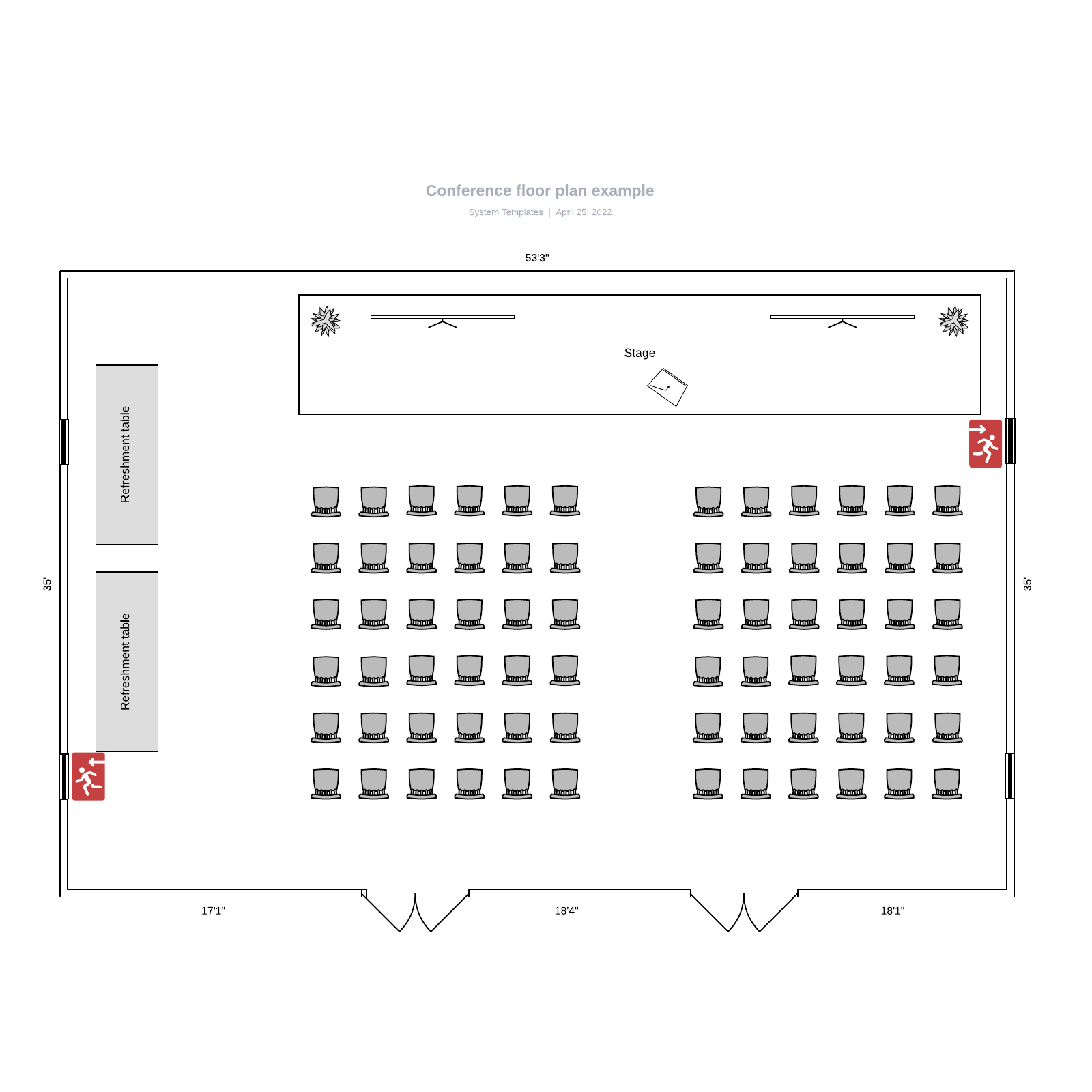 Conference floor plan example