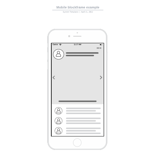 Mobile blockframe example