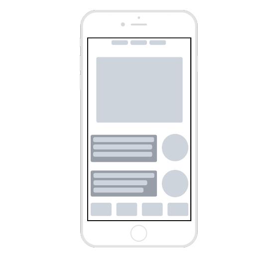 Mobile-App Wireframe-Vorlage