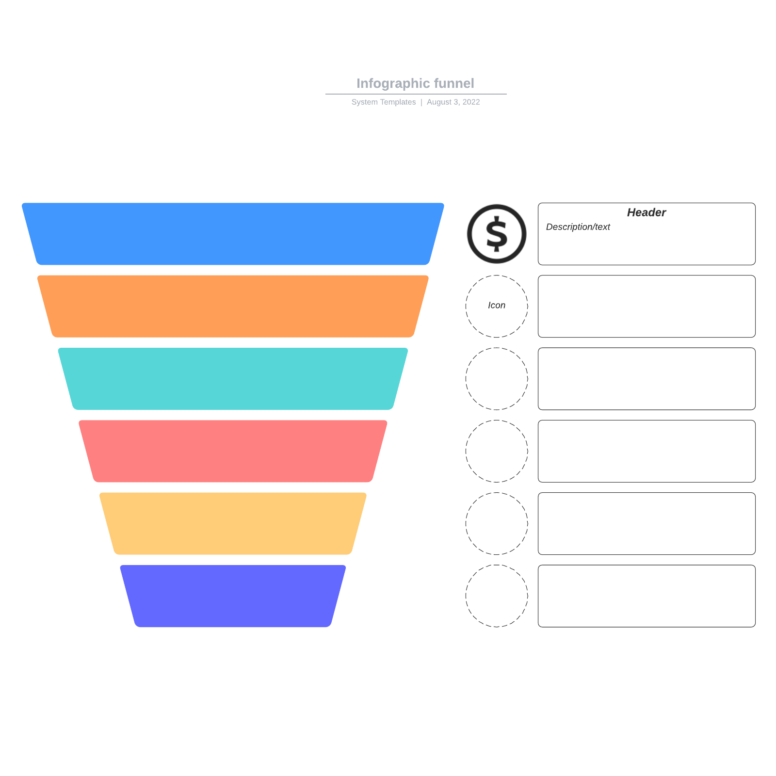 Infographic funnel