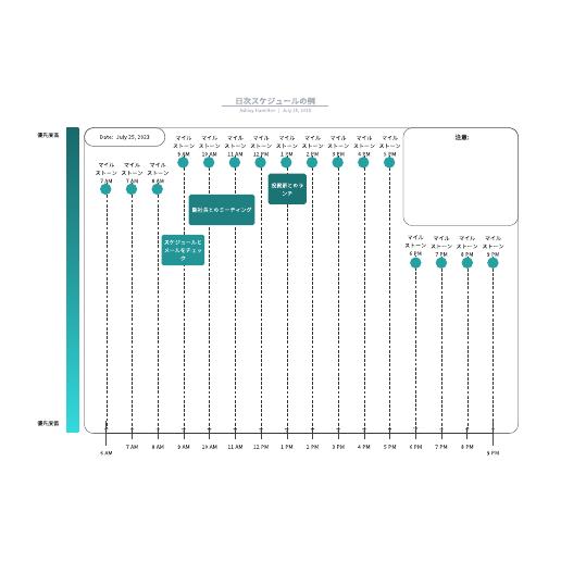 無料でダウンロード可能タイムスケジュール表のテンプレート