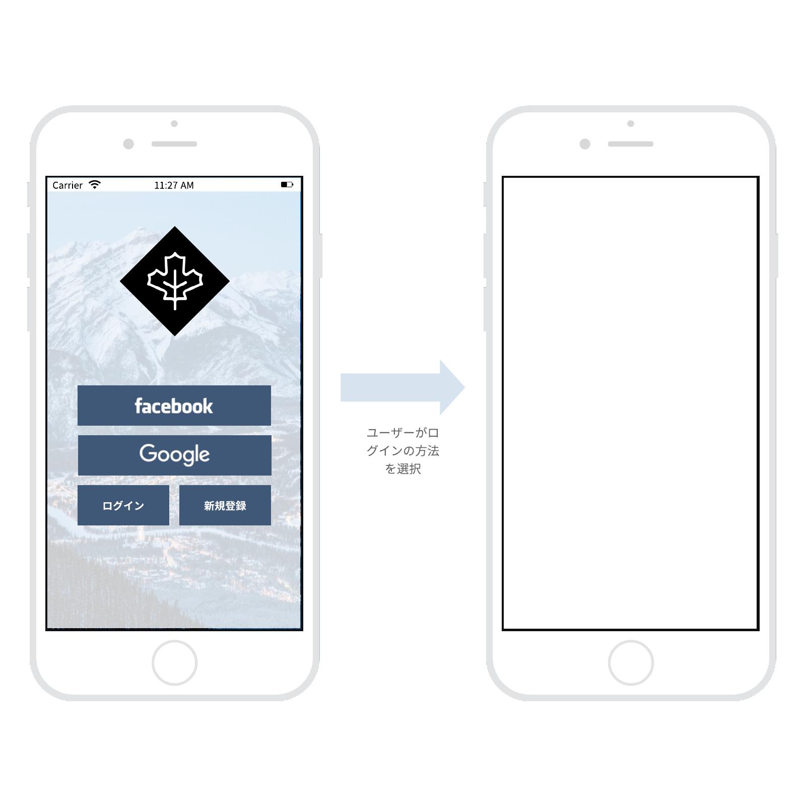 アプリモックアップ デザイン素材