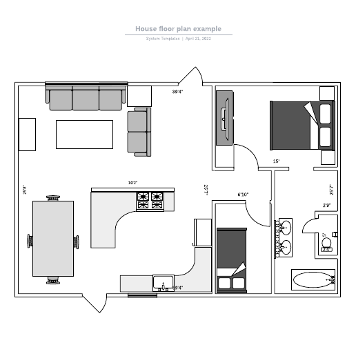 House floor plan example