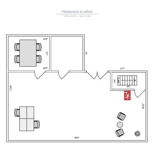 Planimetria di ufficio