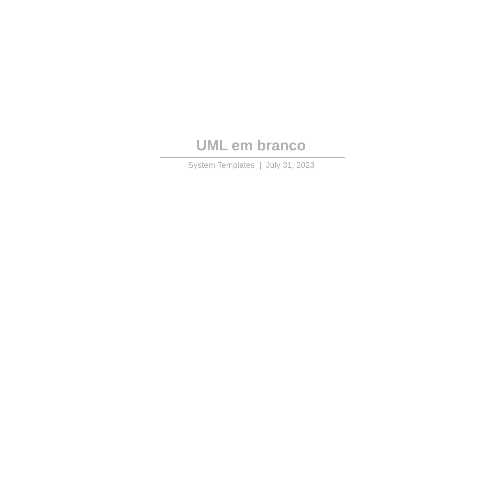 UML em branco