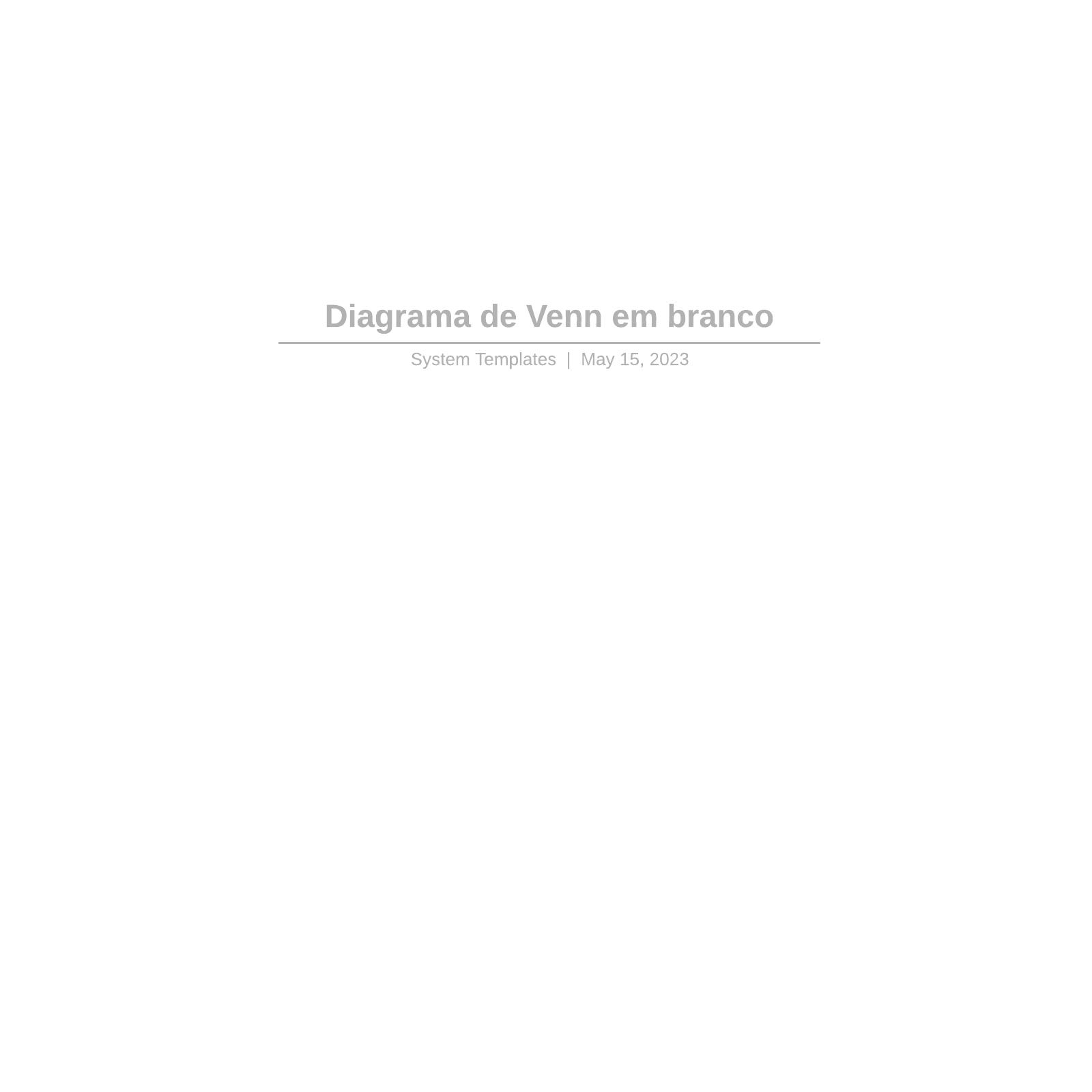 Diagrama de Venn em branco