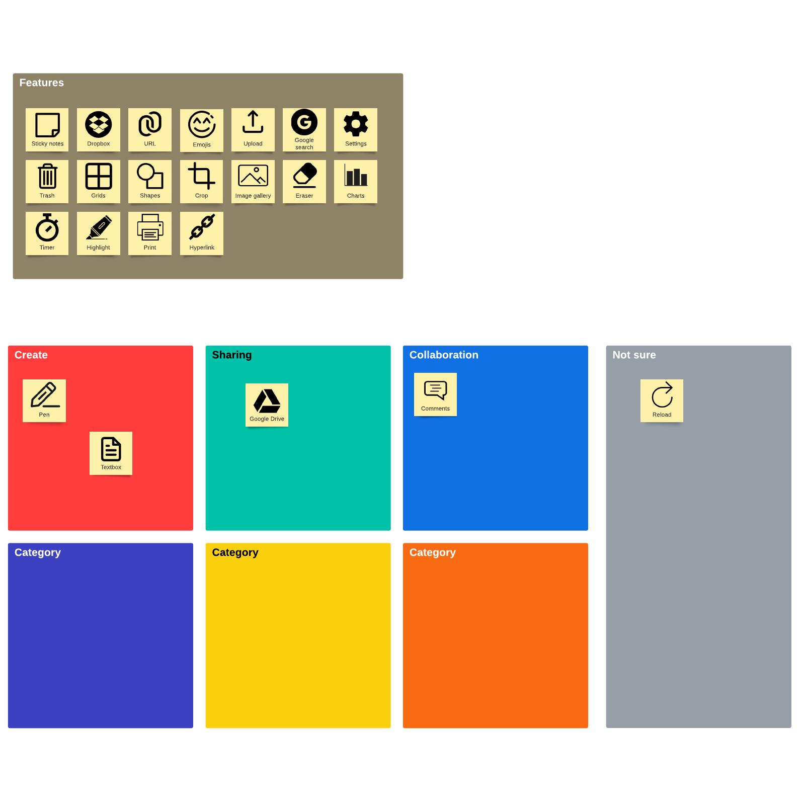 card sorting template