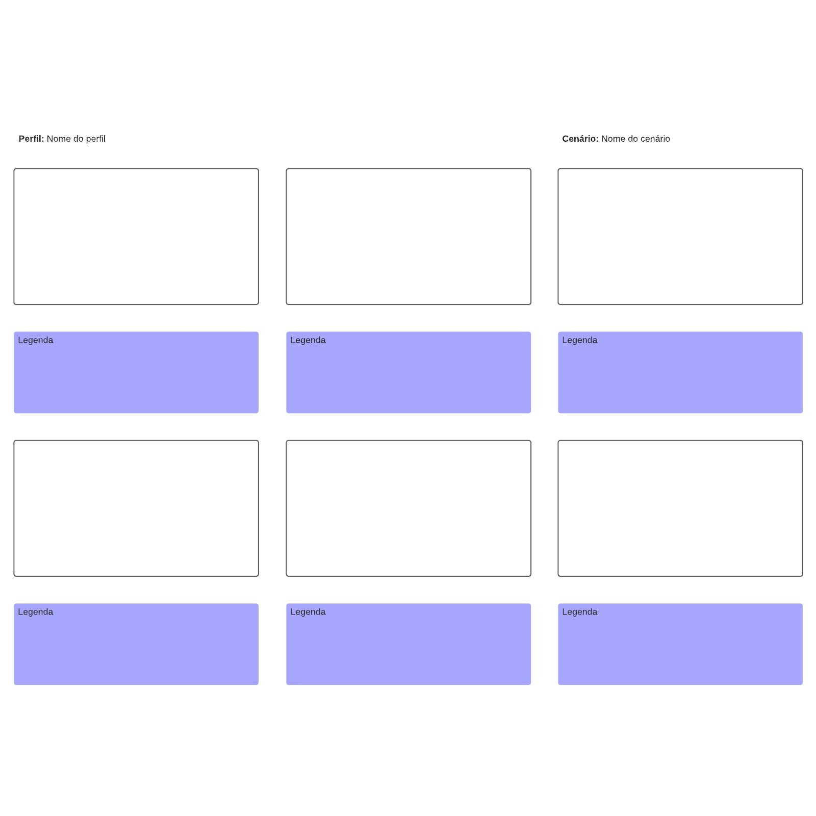 Modelo de storyboard template
