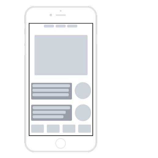 Шаблон каркаса приложения или мобильного сайта