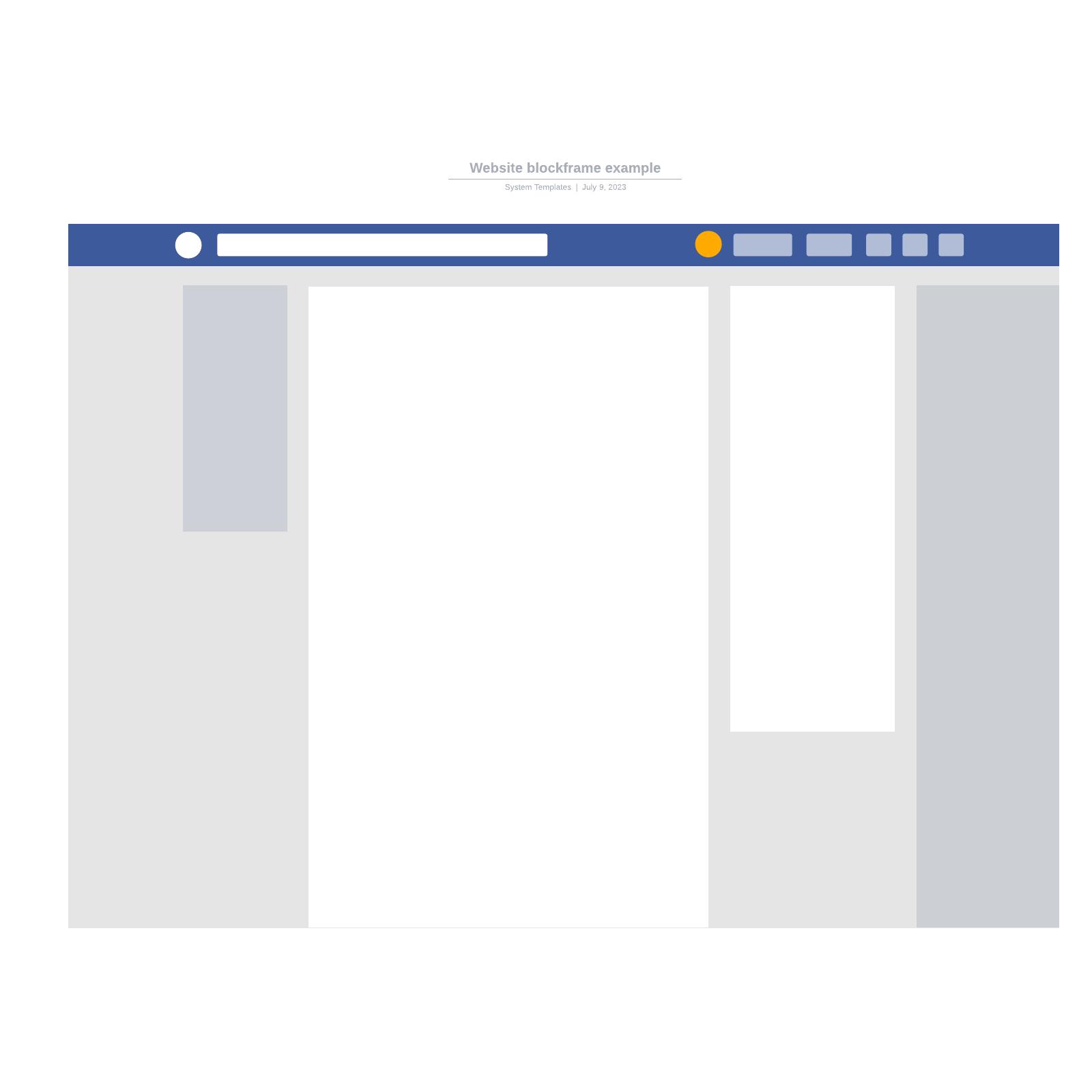 Website blockframe example