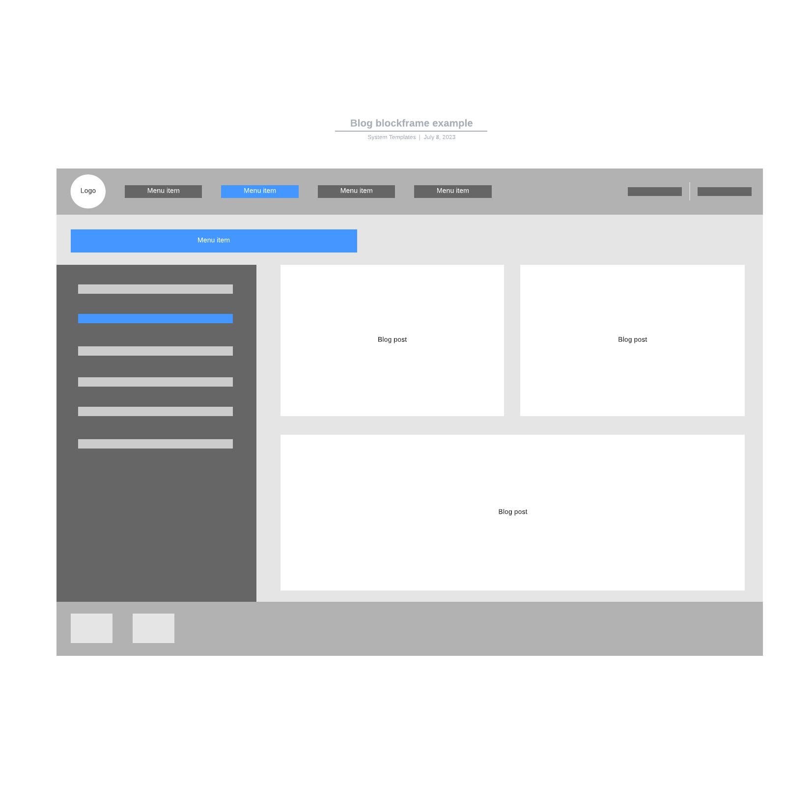 Blog blockframe example
