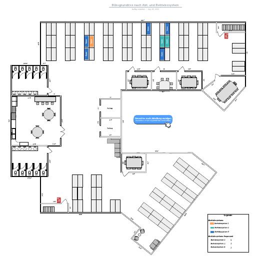 Büro-Grundriss nach Abt. und Betriebssystem - Beispiel