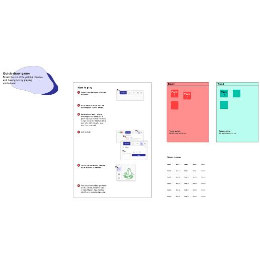Quick-draw digital template