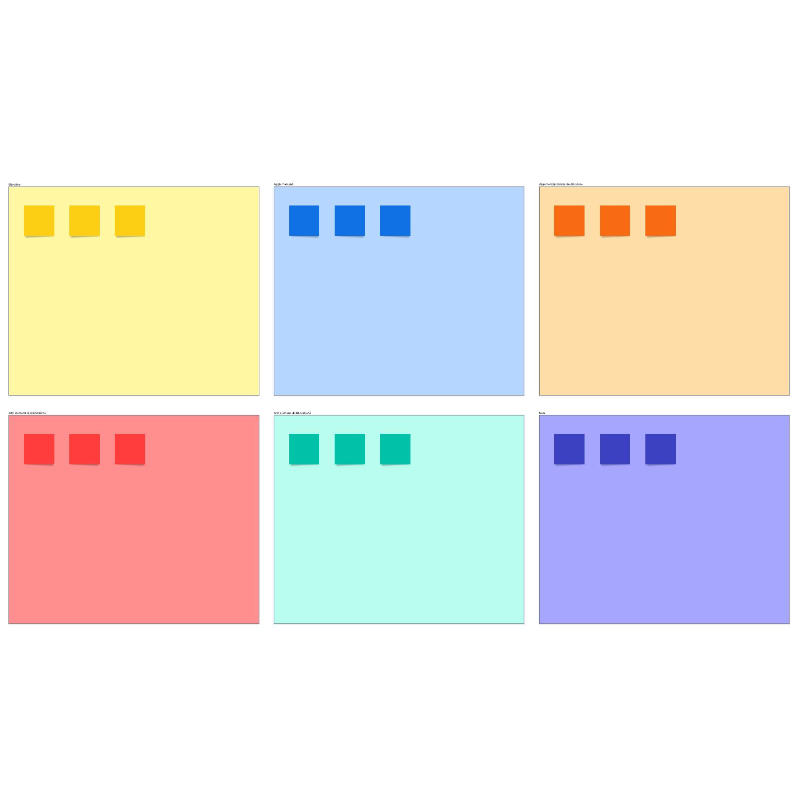 Programma della riunione del team