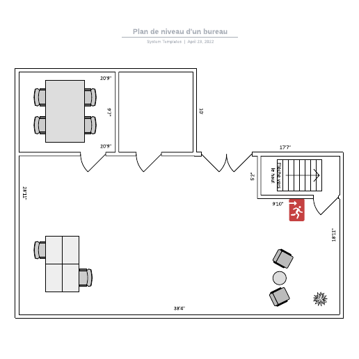 exemple de plan de niveau d'un bureau 1