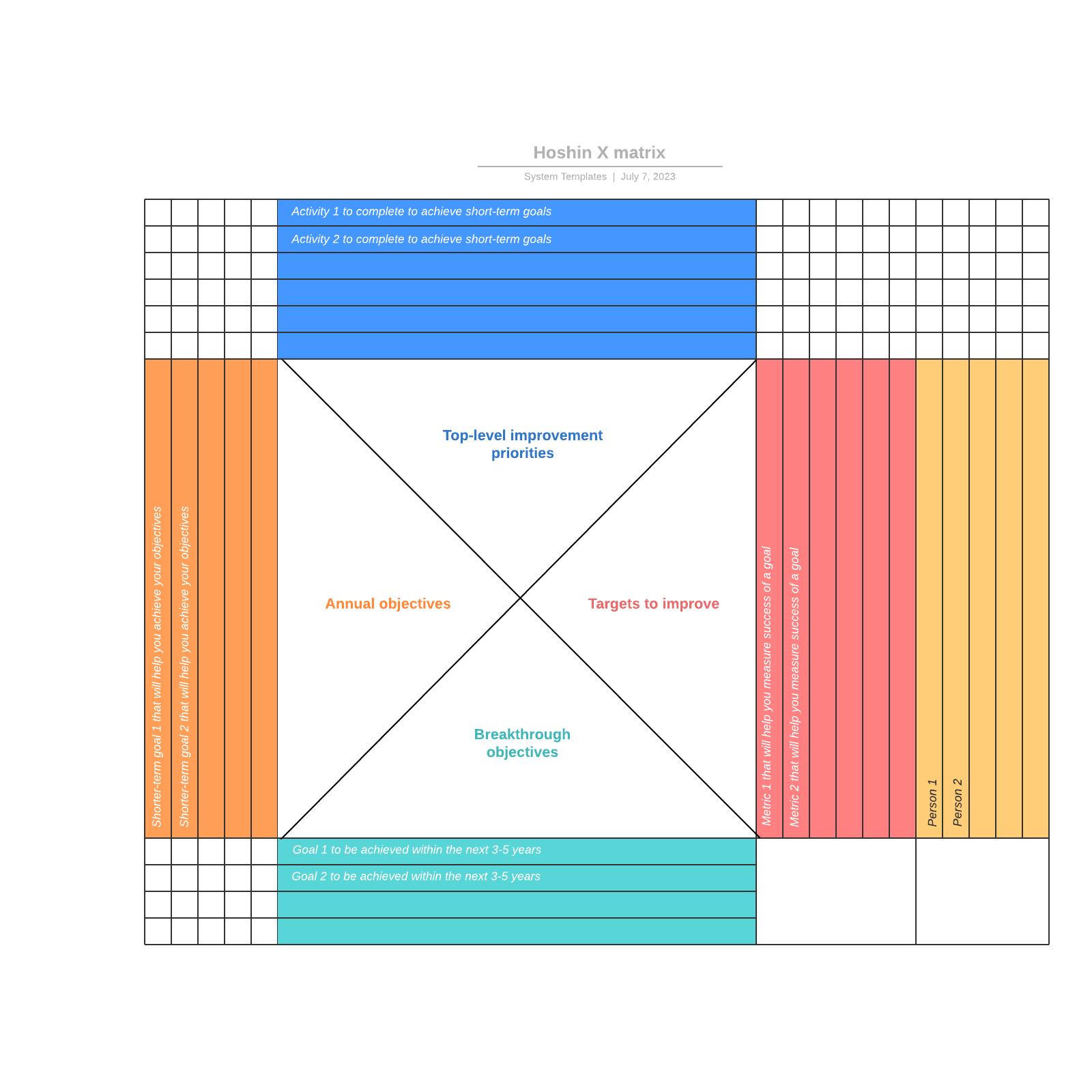 Hoshin X matrix