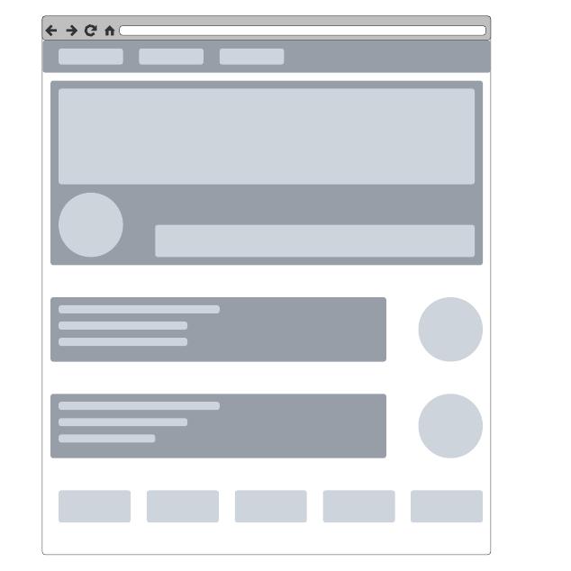 Wireframe de sitio web