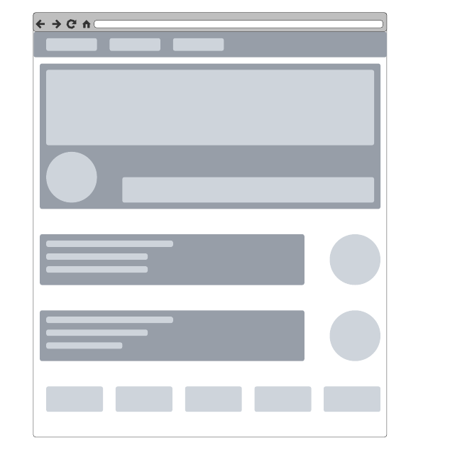 Wireframe per sito web