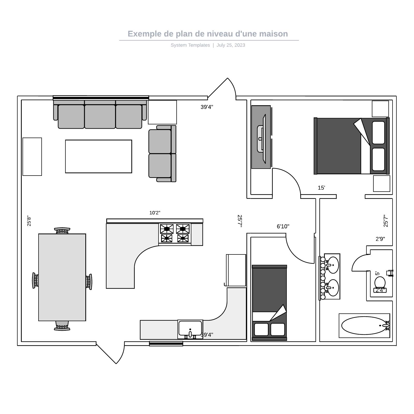 exemple de plan de niveau de maison