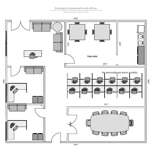 Esempio di planimetria di ufficio