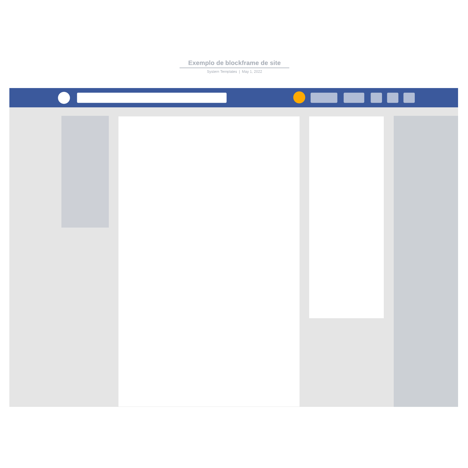 Exemplo de blockframe de site