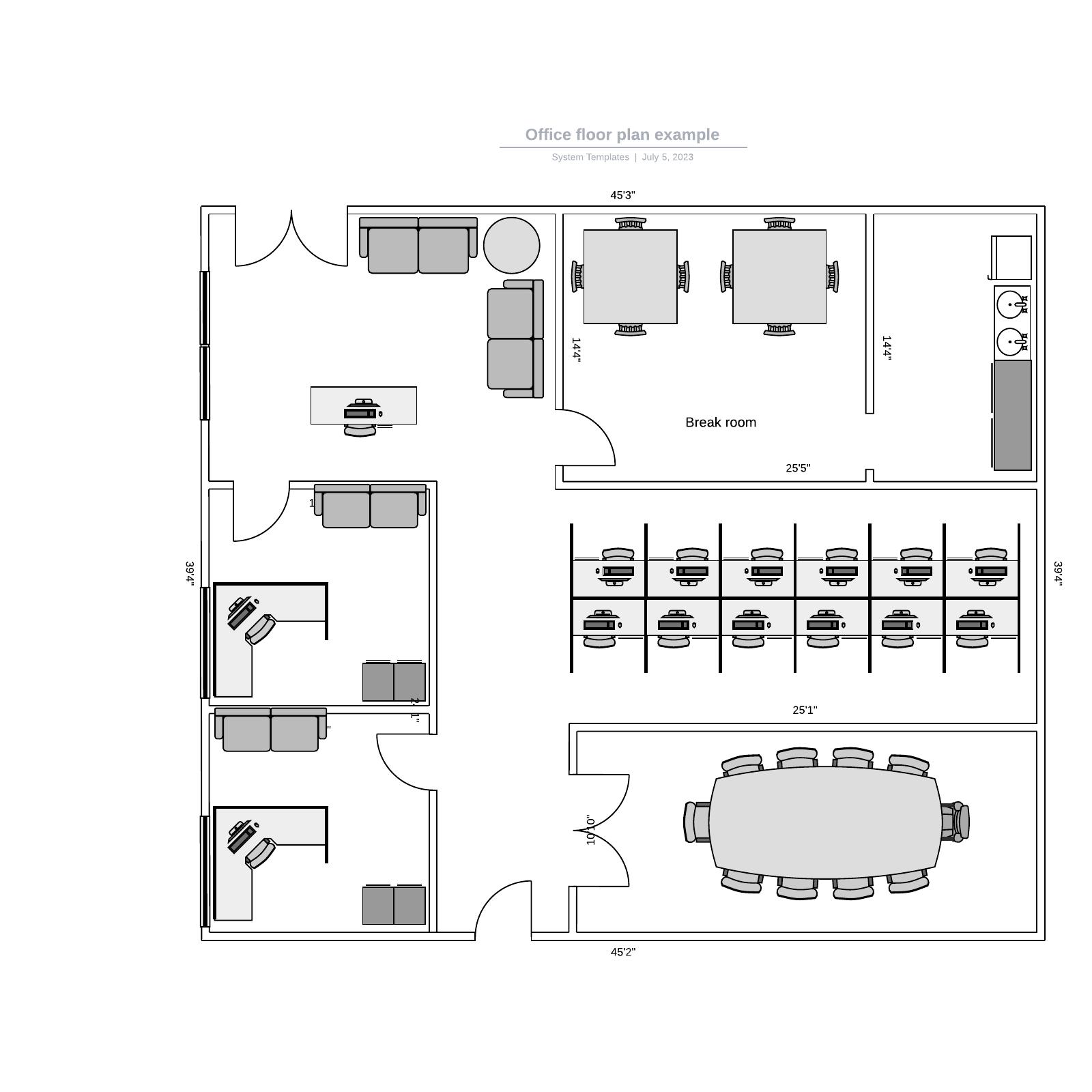 Office floor plan example