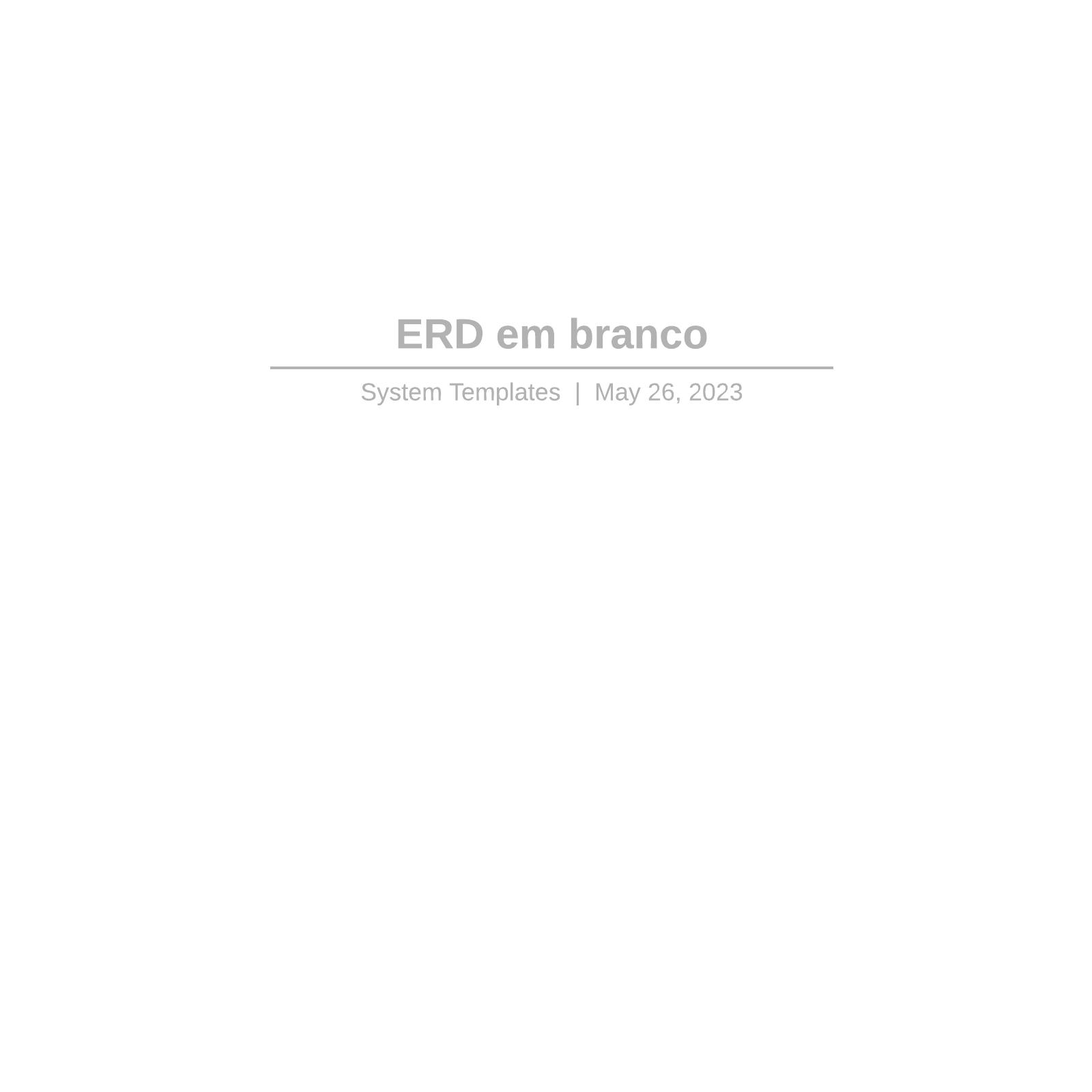 ERD em branco