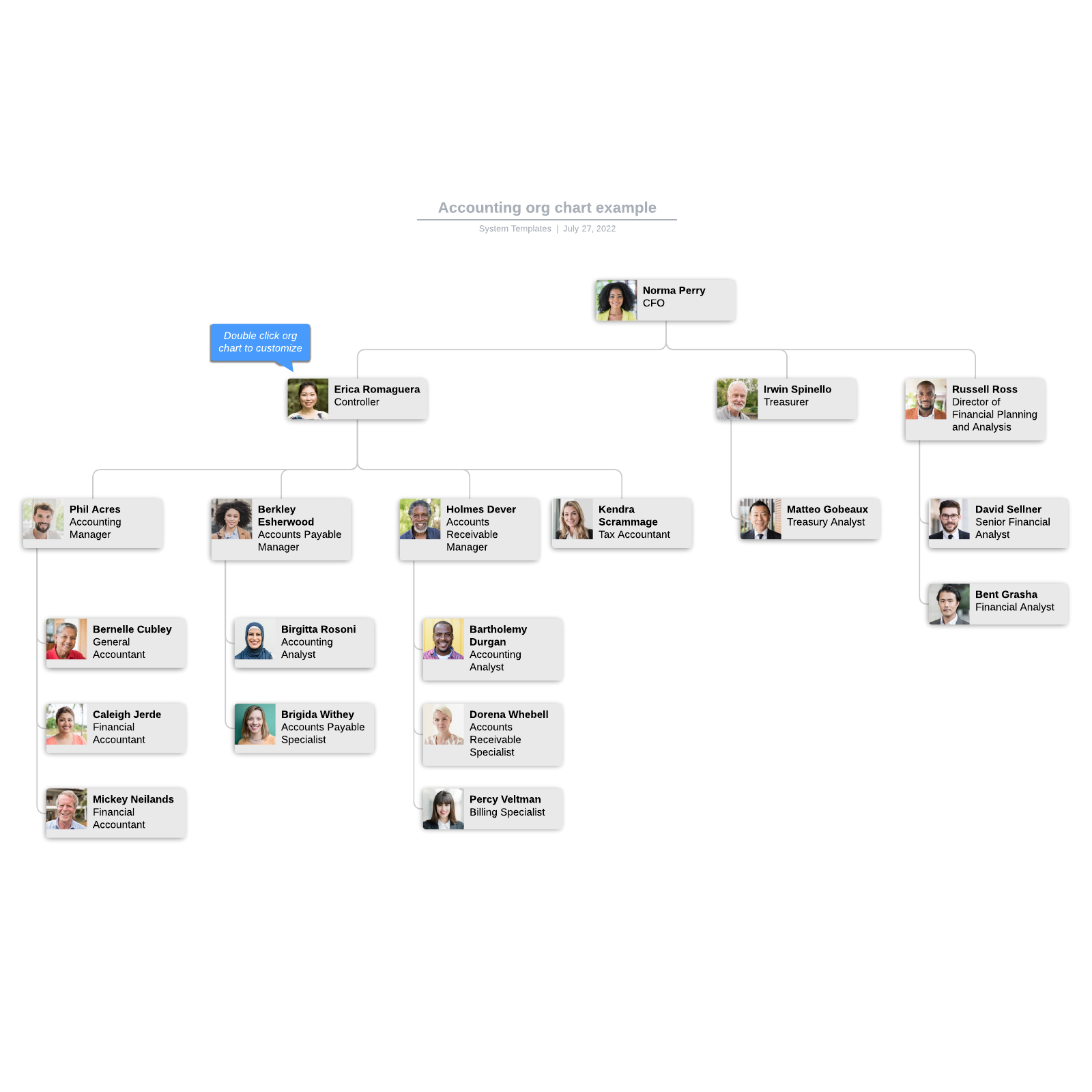 Accounting org chart example