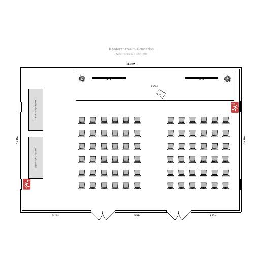 Konferenzraum-Grundriss - Beispiel
