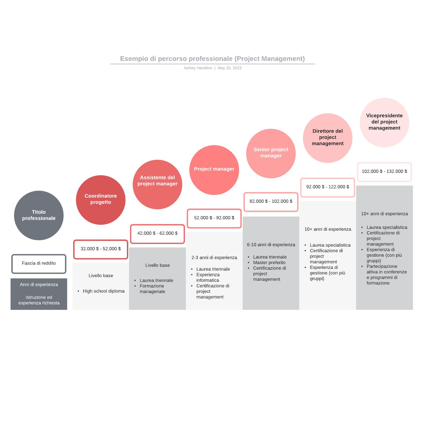 Esempio di percorso professionale (Project Management)